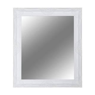 Zrkadlo biely drevený rám MALKIA TYP 13