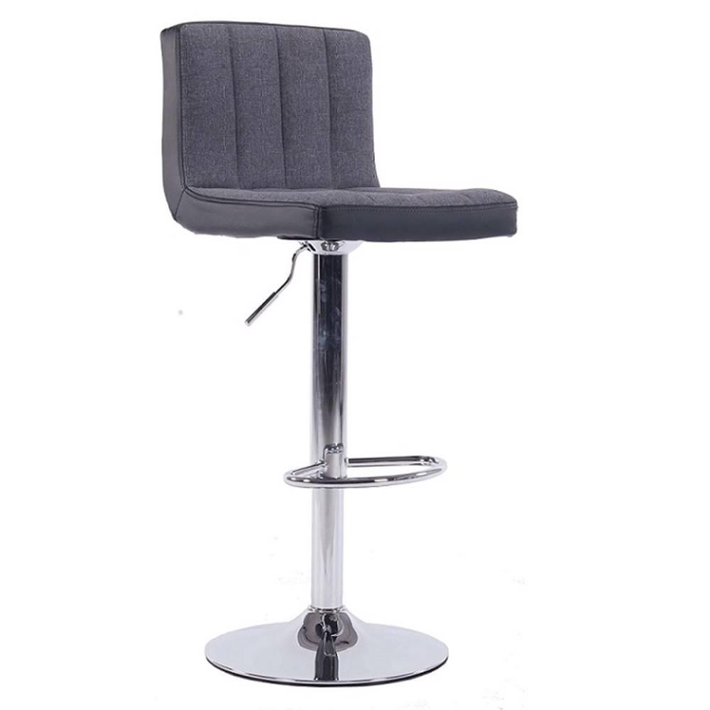 Tempo Kondela Barová stolička sivá/čierna HILDA