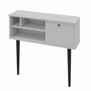 Konzolový stolík svetlosivá/čierna DEMONT