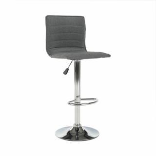 Barová stolička sivá/chróm PINAR poškodený tovar