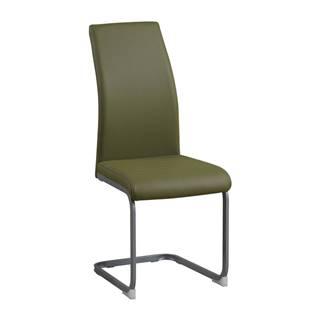 Jedálenská stolička olivovozelená/sivá NOBATA