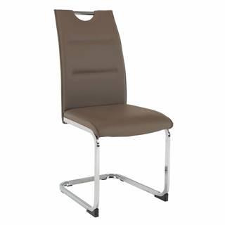Jedálenská stolička hnedá TOSENA rozbalený tovar