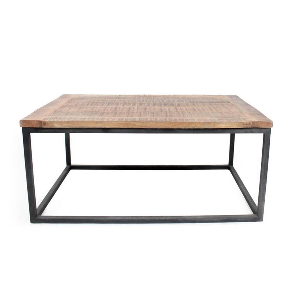 LABEL51 Čierny konferenčný stolík s doskou z mangového dreva LABEL51 Box XL