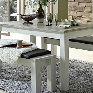 Jedálenský stôl LIMA pínia/biela