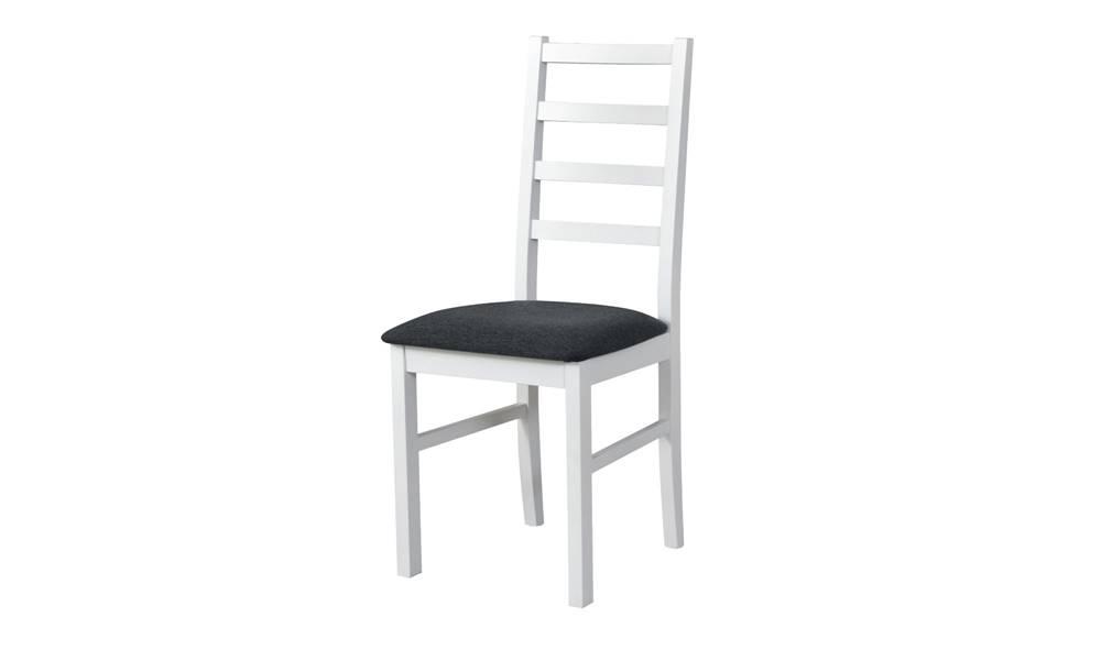Sconto Jedálenská stolička NILA 8 tmavosivá/biela