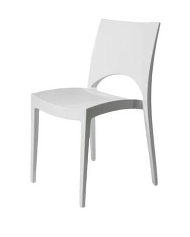 Jedálenská stolička PARIS biela