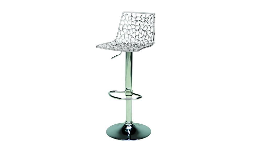 Sconto Barová stolička SPIDER priesvitná