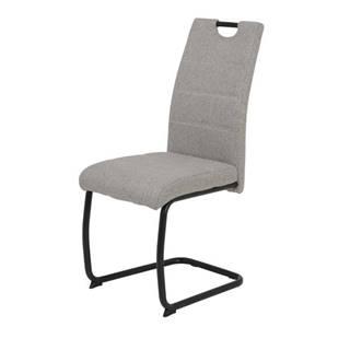 Jedálenská stolička FLORA S svetlosivá, mikrovlákno